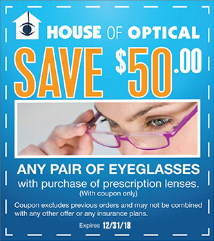 Save $50 on Glasses