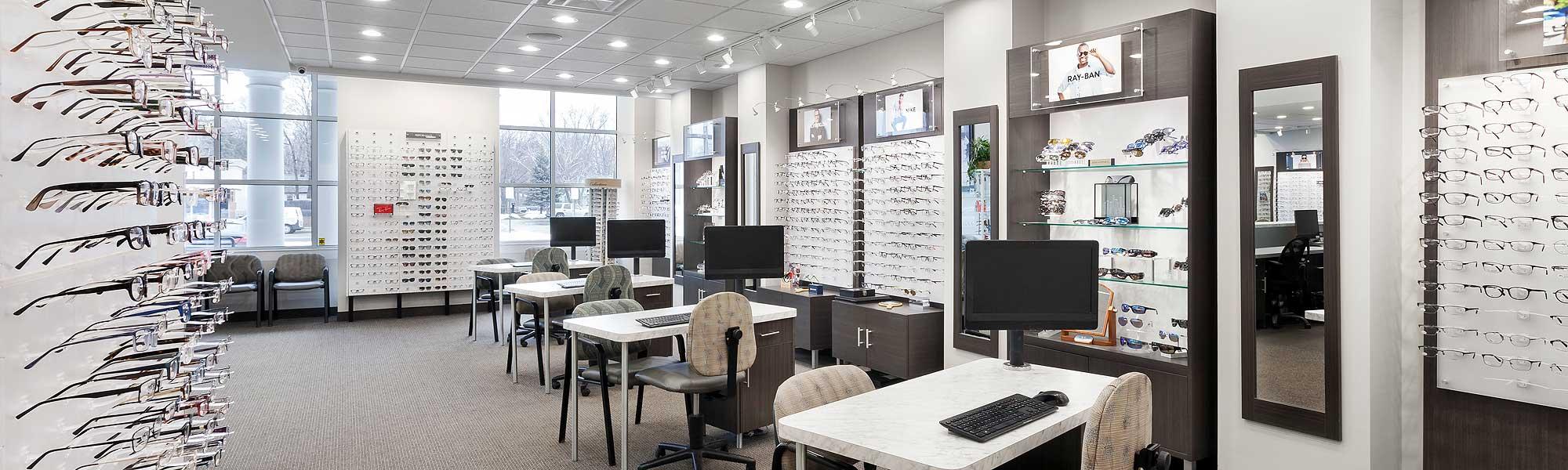 huge selection of designer frames at House of Optical